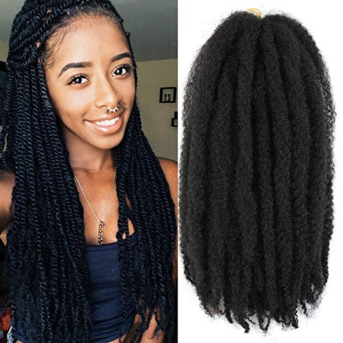 Ayana 6packs Marley Hair for Twists 18 Inch Long Afro Kinky Marley Braid Hair Kanekalon Synthetic Fiber Marley Braiding Hair Extensions (18inch, #2)