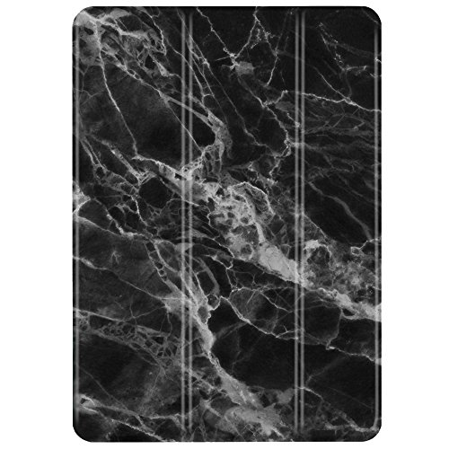 TNP iPad Mini 1/2/3 Case - Slim Lightweight Shell Smart Cover Stand, Hard Back Protection with Auto Sleep Wake for Apple iPad Mini 1/2/3 (Marble Black)