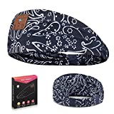 Sleep Headphones Bluetooth Headband, Soft Wireless Bluetooth Headphones Perfect for Side Sleeper, Boho Fashion Headband with HD Speakers for Workout, Running, Yoga, Meditation, Gift(Flower Pattern)