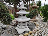 decorazione da giardino in pietra / cemento lanterna / pagoda giapponese a tre livelli