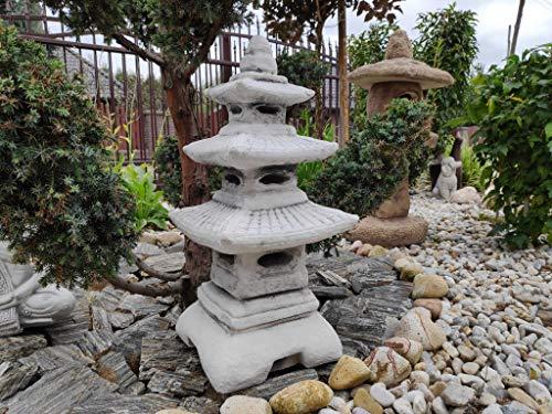Estatua de adorno de jardín: piedra de tres niveles, linterna japonesa / pagoda