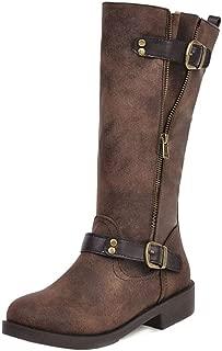MisaKinsa Women Vintage Western Boots with Zipper Block Heel