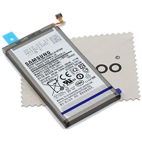 Akku für Samsung Original EB-BG973ABU für Samsung Galaxy S10 (G973F) mit mungoo Displayputztuch