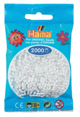 Hama Perlen 501-01 - Mini-Perlen, 2000 Stück Weiß