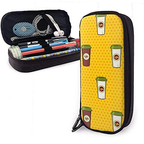 Nahtlose Muster Papier Kaffeetassen gepunktete Federmäppchen Bleistiftbeutel Make-up Tasche Veranstalter Stift Beutel