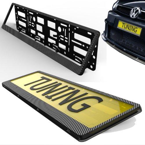 TAPORT NPSCARBON Registration License Number Plate Carbon Surround Holder Frame