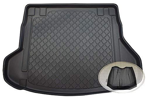 ZentimeX Z3116777 Gummierte Kofferraumwanne fahrzeugspezifisch + Klett-Organizer (Laderaumwanne, Kofferraummatte)