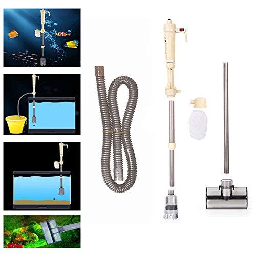 Elektrische Pumpe Aquarium Wasserwechsel Aquariumreiniger Mulmsauger Reinigung Wasseraustauschgeräte für Aquarien - ohne Batterie