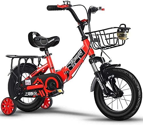 Bicicletas para niños, Bicicletas para niños de 2 a 10 años Carrito para niños y niñas Coche con Equilibrio de pies para niños Bicicleta Plegable para Exteriores Deportes al Aire Libre Bicicleta de