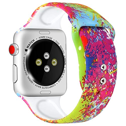 Correa de silicona para apple watch band 40mm 44mm iWatch band 38mm 42mm Sport Printed belt brazalete Apple watch series 5 4 3 se 6