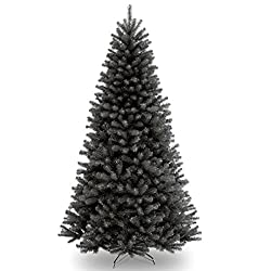 Black Christmas tree for Halloween