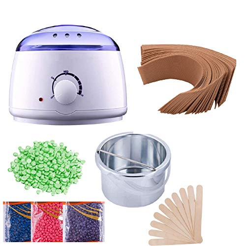 Revolution Wax Heater,Hot Wax Heater Combo Waxing, Wax Heater For Waxing Automatic Wax Heaters, Wax Machine For Women, Automatic Waxing Kit with Wax Beans(100g) and Wax Strips For Waxing (40pcs)