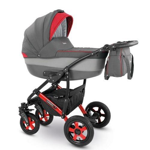 Camarelo CARERA Kombikinderwagen - Kinderwagen - Buggy Farbe XCA-6 grau/hellgrau/rot