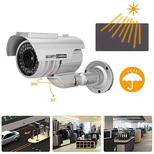 Dummy camera, zonne-energie dummy nep bewakingscamera kogels vorm LED simulatie monitor bewakingscamera
