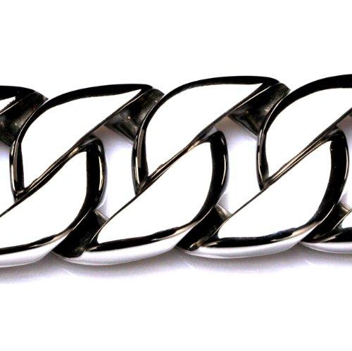 Marsoxx, bracciale XXL da uomo in acciaio inox, ampia catena molto pesante e massiccia, da motociclista e acciaio inossidabile, colore: silbern hochglanz poliert, cod. Warrior-MXX2.1