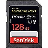 SDカード SanDisk Extreme PRO SDXC UHS-I カード 128GB R:170MB V30 対応 [並行輸入品]
