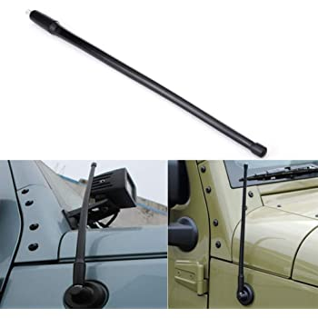 antenne for Jeep Wrangler JK JKU JL 2008-2017 Antenne de rechange for voiture de 13 pouces Antenne de voiture