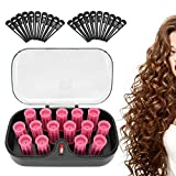 Electric Hair Perm Rods Set, 15PCS Hair Rollers Women Wave Rods Plastic Perming Rods Girl Curlers Rollers for Short Long Natural Hair