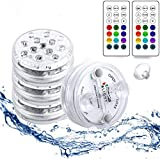 StillCool Luces Sumergibles con 16 Colores 13 LEDs, 4 PZS Piscina Luz LED Impermeable con ...