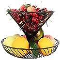 2-Tier Widea Counter Fruit Basket (Black)