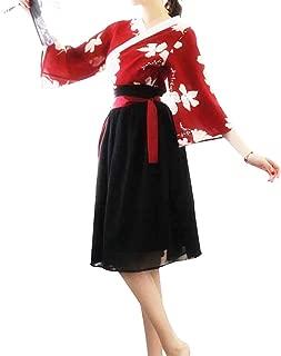 Japanese Kimono Role Lingerie Set Mini Dress with OBI Belt Sexy Girl Geisha Cosplay Costume Outift