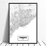 Leinwanddruck,Toronto Ontario Kanada Schwarz Weiß