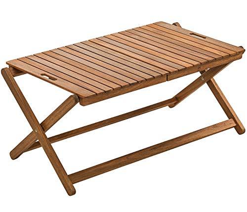 Dehner Tablett-Tisch Macao, ca. 90 x 50 x 38 cm, klappbar, FSC Akazienholz, natur