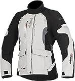 Alpinestars Chaqueta moto Stella Andes V2 Drystar Jacket Light Gray Black Dark Gray, Negro/Gris, XL