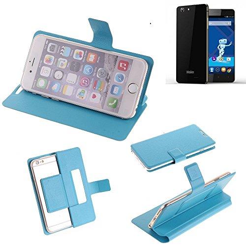 K-S-Trade® Flipcover Für Haier Phone L53 Schutz Hülle Schutzhülle Flip Cover Handy Case Smartphone Handyhülle Blau