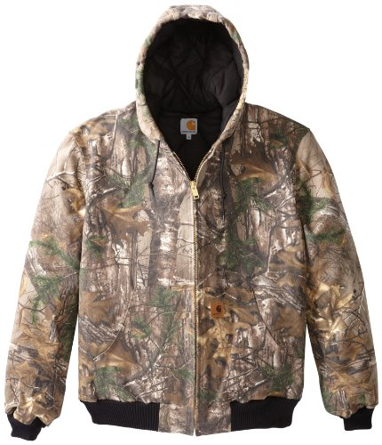 Carhartt Men's Big & Tall Quilted Flannel Lined Camo Active Jacket,Realtree Xtra,X-Large Tall