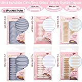 1280Pcs 6 Styles 6 Packs Invisible One/Two Sides Sticky Double Eyelid Tapes, Medical-use Fiber Eyelid Strips, Instant lift Eyelid Without Surgery, Perfect for Hooded, Droopy, Uneven, Mono-eyelids