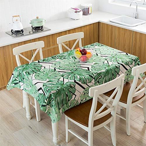 Manteles Hoja De Plátano Tropical Mantel De Mesa Paño Impermeable Toalha Lámina De Agua De Mesa DECORAÇÃO For Casa Cubierta De Tabla Manteles (Color : 9, Specification : 140x140cm)