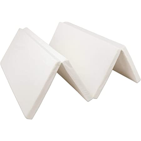 タンスのゲン マットレス 日本製 シングル 高反発 4つ折り 厚み5cm 150N 硬め 軽量 薄型 コンパクト ホワイト 23300037 00 (56453)