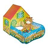 Relaxdays Spielzelt mit Bällebad, eckiges Spielhaus, Jungen & Mädchen, Pop up Bällezelt, ab 3...