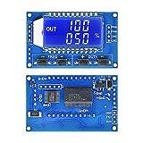Aideepen 2個セット 信号発生器 PWMパルス周波数1Hz〜150Khz デューティサイクル調整可能LCDディスプレイPWM方形波ボード (2)