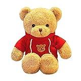 FeiWen Sudadera Teddy Bear Muñeca de Oso Abrazo Juguetes de Peluche de Oso Muñeca de Trapo Boda Regalo (Rojo)