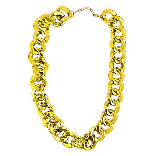 Beelittle Hip Hop Rapper gouden ketting accessoire Cubaanse faux gouden kostuum juwelen touw ketting ketting