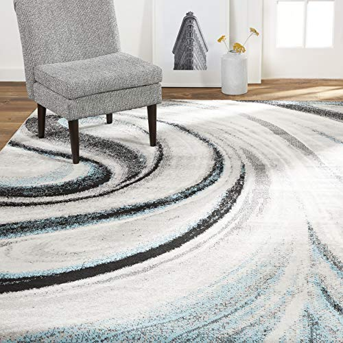 Home Dynamix Odette Area Rug, 5'2'x7'2' Rectangle, Gray/Blue