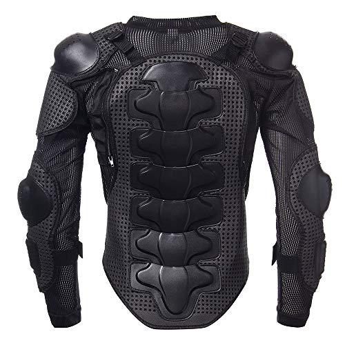 KKmoon Giacche da Moto, Armatura di Giubbotto da Motociclista per Tutto Il Corpo, Protezione Toracica per Spalla, XL