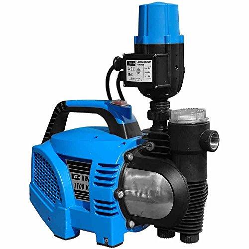Güde 94226 Huiswaterautomaat HWA1100 VF, 1100 W, 230 V, zwart, blauw