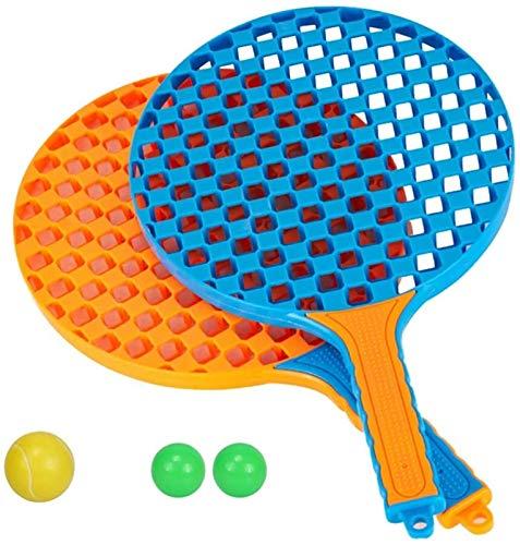 Juego de raquetas de tenis para niños con pelota de raqueta de tenis de plástico para niños pequeños o deportes al aire libre infantil Bádminton Racket Beach Juguete Color aleatorio badminton raqueta
