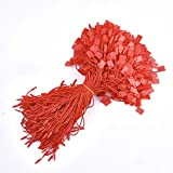 Perlin – 275 etichette da appendere, colore rosso, filo di nylon con chiusura a scatto, 17,8 cm, per etichette, vestiti, gioielli, bagagli e prodotti di sicurezza DEK103