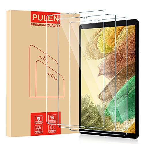PULEN Panzerglas Schutzfolie für Samsung Galaxy Tab A7 Lite [3 Stück], 9H Festigkeit Panzerfolie Glass [HD][Anti-Kratzen]Klar folie Bildschirmschutzfolie (8,7 Zoll, SM-T225)