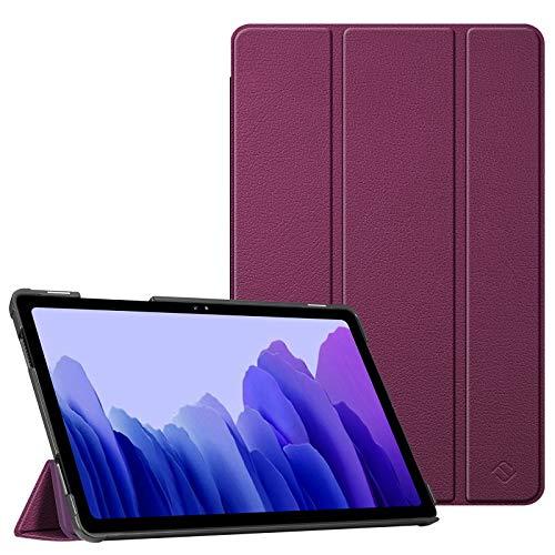 Fintie Hülle für Samsung Galaxy Tab A7 10,4 2020 - Ultra Schlank Kunstleder Schutzhülle Cover mit Auto Schlaf/Wach Funktion für Samsung Galaxy Tab A7 10.4 SM-T500/505/507 Tablet, Lila
