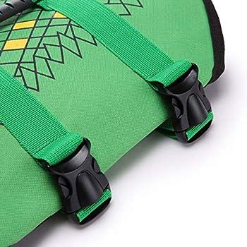 La Vie de Chien Veste Gilet de sécurité Protecteur Couleur Vert Maillot Fishtail (Size : S)