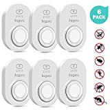 Ultrasonic Pest Repeller, 2020 Upgraded Electronic Pest Repellent, Multifunctional Indoor Pest Reject Repeller for Mice, Cockroaches, Rats, Spiders, Fleas, Mosquitoes, Ants Bugs and More (6 Pack)