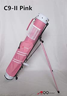 "C9II A99 Golf Practice Sunday Range Pencil Carry Stand Bag Removable Top 5"" Pink"
