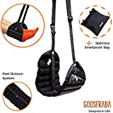 Airplane Footrest Hammock + Smellproof Travel Bag – Premium Travel Accessories - Improve Airplane Experience - Separated Feet, Better Stability and Comfy – Prevents Swelling, Soreness