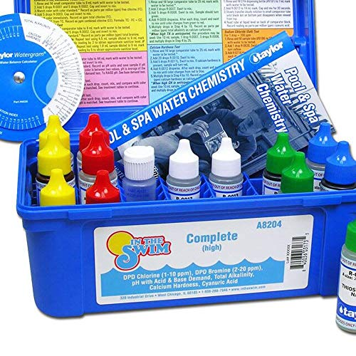 Taylor K2005 Swimming Pool Chlorine Bromine Alkalinity Hardness pH DP Test Kit