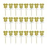 Jrzyhi 24 piezas de decoración para tartas de baby shower cumpleaños niñas niños niños cupcakes monos de bebé púas para cupcakes feliz cumpleaños para niños cumpleaños baby shower deco para fiestas